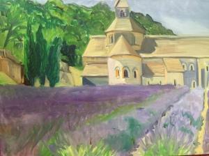 Lavendar Farm at Monestary, Provence France