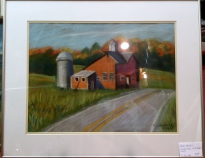 Vermont Fall with Barn and Silo